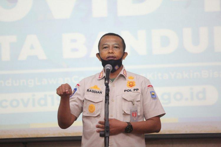Lebih dari 100 Orang di Kota Bandung Ditindak karena tak Bermasker