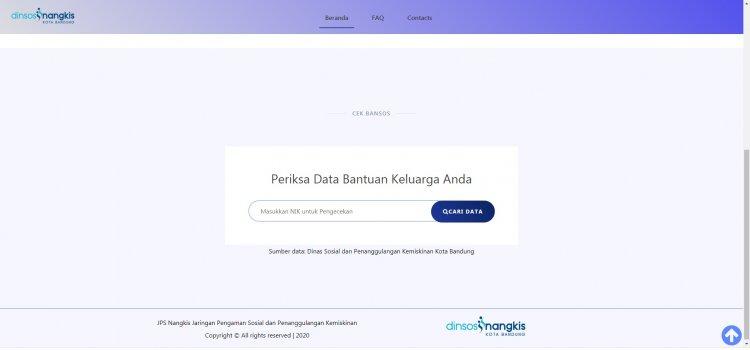 Cek Status Bansos melalui  Internet